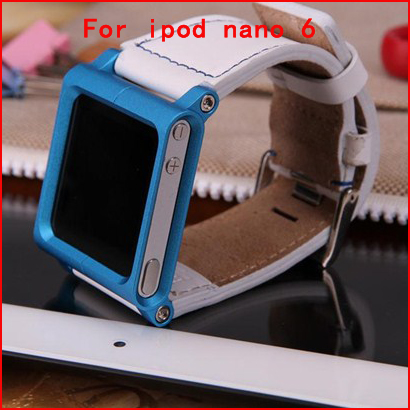 20pcs Retail Package Lunatik Chicago Collection Leather Muti-Touch Watch Band Strap Case For iPod Nano 6,Free Shipping Via DHL(China (Mainland))