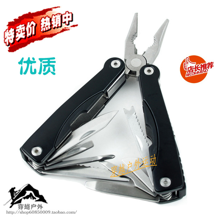 Combination multifunctional knife plier combination tools multifunctional pliers tool bag Large folding plier(China (Mainland))