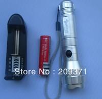 1set free shippingMini LED Torch 5W 300LM CREE Q5 LED Flashlight Adjustable Focus Zoom flash Light +charger+18650 battery
