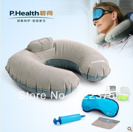 2013 Upgarded U Shape Inflatable Pillow, Rest Pillow, Protecting Pillow, High Quality Travel Pillow Free Shipping 10225(China (Mainland))