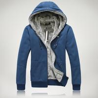 Hot sell.   keep warm  plus velvet thickening men's hooded sweatshirt  plus size 5xl 4XL 3XL.wholesale