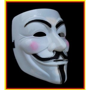 Fancy Dress Accessories - Vendetta Mask With String (One Size Fits All)(China (Mainland))