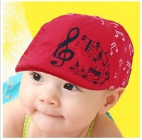 Free shipping NEW  arrival spring and summer lovely kids hat The small note beret baby cap