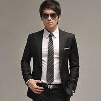 Hot sell. Free Shiping High grade mercerized  leisure suit leisure  version black  evening dress Suit (coat+pants).wholesale