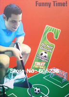 2013 Novelty Game  Toilet Time Toilet Football Mini Football                ( Mini Golf series )