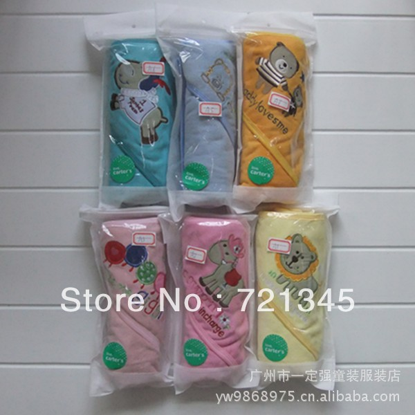 free shipping Carter's Boys Blanket 2013 new high quality infant wrap, baby bath towel quilt(China (Mainland))