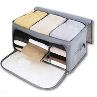 Visual double open bamboo charcoal storage box finishing box storage box t01702 free shipping+gifts