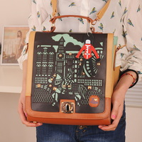 2013 fashion vintage  preppy style student bag female bags  aza  free shipping