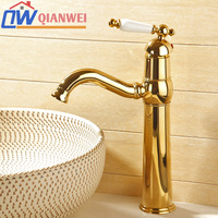 Counter basin hot and cold wash basin faucet qw3237k