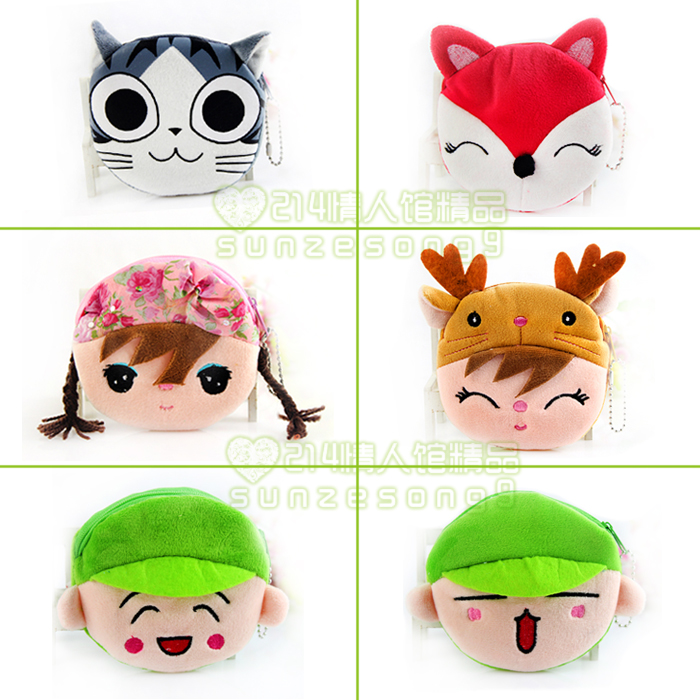 Cartoon coin purse change pocket zipper women&#39;s key wallet purse toy(China (Mainland))