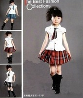 Female child  student school uniform choral service costume performance wear  cotton high quality  y1850