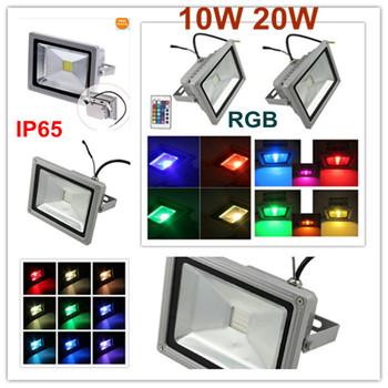 10w 20W 85-265V RGB Flood LED Light Projection lamb Flash Landscape Floodlight Outdoor Color Change efficiency Bulbs