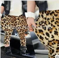 New arrivals 5pcs/lot baby girls spring autumn leopard printing harem pants kids trousers children's PP pants baby clothing