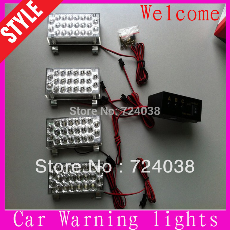 Hot sale 4x22 88 LED Strobe Light Flash Warning cauting light Car Truck Firemen lamp Wholesale(China (Mainland))