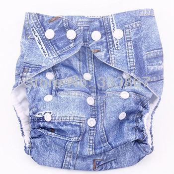 Cute Baby Infant Reusable Adjustable Cloth Diaper, 1 Cloth Diaper Nappy +1 Insert, ...