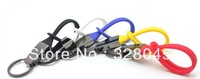 Free Shipping Car key chain Black titanium metal keychain gift carkey ring keychain lovers design