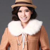 2013 spring rabbit fur faux silk wool collar scarf muffler fashion thermal collar false collar