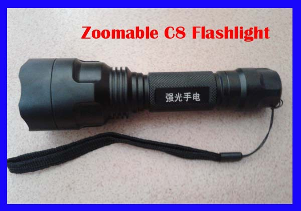 Wholesale 5pcs/lot 1600 Lumens 5-Mode CREE XM-L T6 Flashlight LED Zoomable/Adjustable Focus Flashlight Torch power by 18650(China (Mainland))