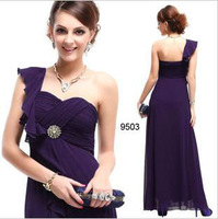 Free Shipping 2013 New Arrival Panar Women's Flower Ruffles Prom Gown Ball Evening Dress