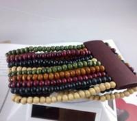 $9.25 Fashion wooden Bracelet  Color Bracelet Copper ball decoration +Free Shopping 4 pieces/lot