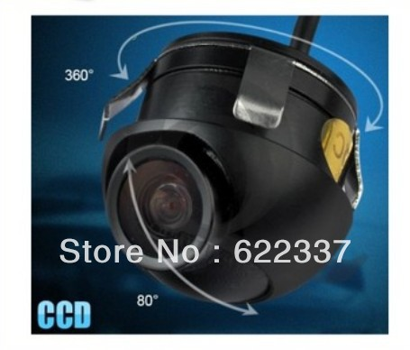 22.5mm 360 Ccd Car Vehicle Rear View Side/ Front Camera Back Up Spy Mini Cam Wide 120(China (Mainland))