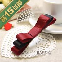 Brief hair accessory diy handmade bow hair accessory hairpin hair clip hair accessory Red F73