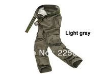 Free shipping fashion mens pants washing overalls high quality men outdoor casual multi pockets design trousers jeans 6 colors