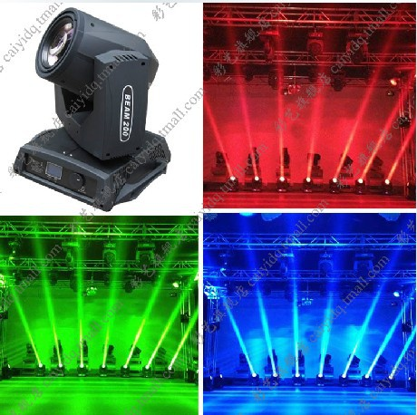 Free Shipping Hot Seller 200W RGB Beam LED 5R Moving Head Light stage spot Lighting Disco Xmas Party Stage Lighting(China (Mainland))
