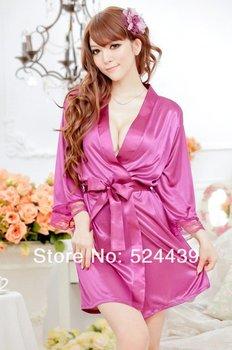 drop shipping Sexy lingerie Sexy Lady Satin Lingerie Chiffon Sleepwear Nightdress,bathrobe.sexy underwear