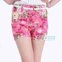 2013 summer hot-selling women's all-match fancy shorts elastic pants