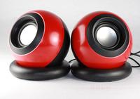 Promotion Small audio mini usb computer speaker bass 2.0 notebook speaker magic ball
