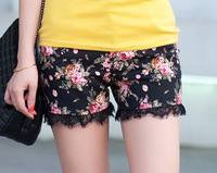 Summer women's plus size high waist shorts mm casual pants shorts female lace shorts pants