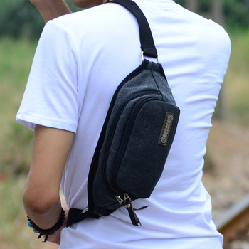 backpack Canvas waist pack male casual small bag multifunctional sports bag chest pack female