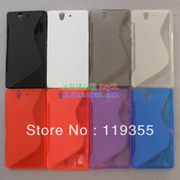 free shipping wholesale 10pcs/lot Anti-skid design tpu case, soft TPU Case for Sony Xperia Z l36h (C6603/ C6602)