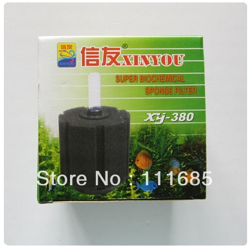 Free Shipping 3Pcs XINYOU Biochemical Sponge Filter For Aquarium Fish Tank Bio Filtration XY-380(China (Mainland))