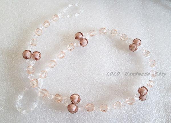 ONE-PAIR-Tieback-Transparent-Beads-Curta