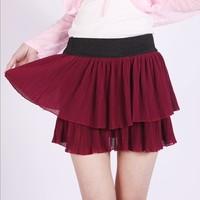 Free Shipping 2013 summer chiffon Double layer pleated bust skirt women pleated skirt wind princess skirt cake