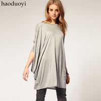 Fashion Women's loose knitting t-shirts with bat sleeve lady blouse for freeshipping