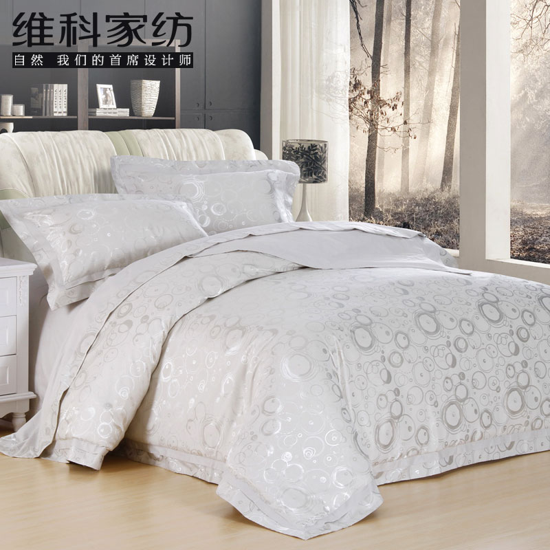 Criticizing home textile bedding quality jacquard four piece set single double(China (Mainland))