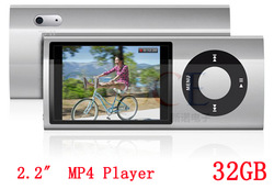 "New 2.2"" LCD 32GB 5th gen MP3 player digital MP4 player with camera touch button screen free shipping(China (Mainland))"