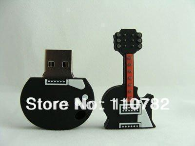 UP57 Wholesale Black Guitar model USB 2.0 Memory Stick Flash pen Drive Enough 2-32GB(China (Mainland))