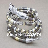 12pcs Fashion vintage Retro Bending Punk Bendy Flexible snake DIY arm Bangle bracelet necklace snakes Chain multiple use RI006#