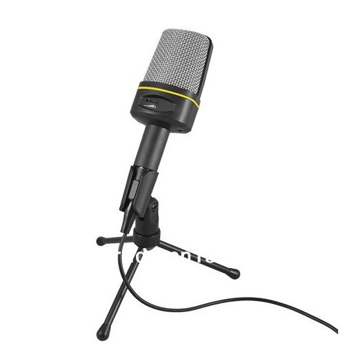 Recording Vocals KTV 3.5mm Computer Condenser Microphone w Tripod Stand(China (Mainland))