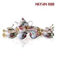 Quality 16 enamel coffee set squirrel ceramic gift wedding gift