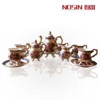 Ceramic western painting royal fashion coffee tea set top ceramic gift wedding gift