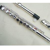 Real Silver body 16 Close hole flute Ckey+E Great Tone