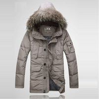 Free shipping Fashion Men's Outdoor Zip Up Short Hooded Coat Winter Warm Thicken Parka Cheap330
