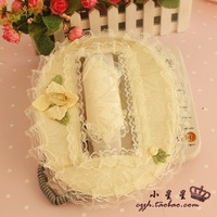Free shipping Lace cloth telephone set 100% cotton fabric phone cover telephone sets doorbell set doorbell telephone sets