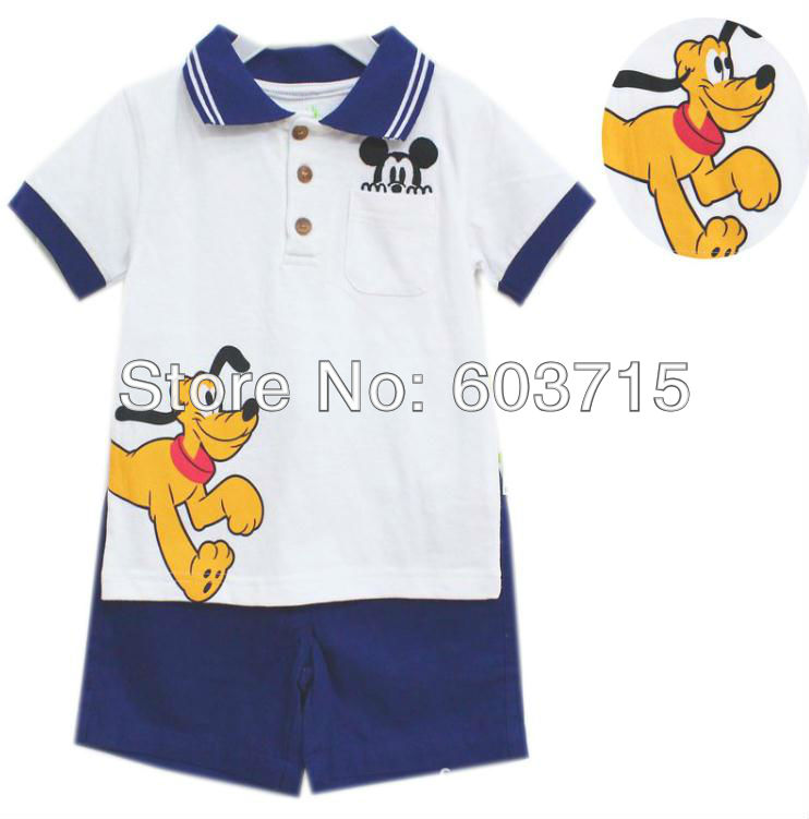Retail NEW arrive hot sale children boys cloth 2 pcs set cute t shirt+ pants Baby boys&#39; Pretty Summer Short 2PCS, kid&#39;s cloth(China (Mainland))
