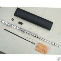 16 holes flute c key silver +E parts CARVEN EMBOUCHURE